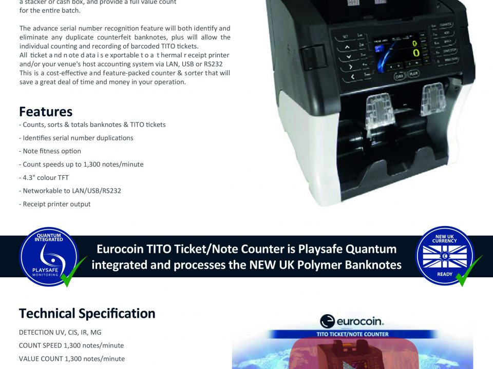 Eurocoin TITO TicketNote Counter V1 1