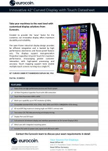 Innovative 42 Curved Display with Touch V1