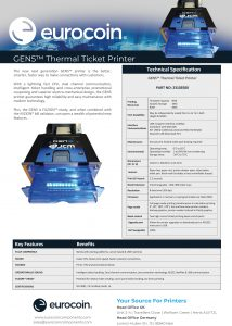 gen 5 thermal ticket printer UK V2