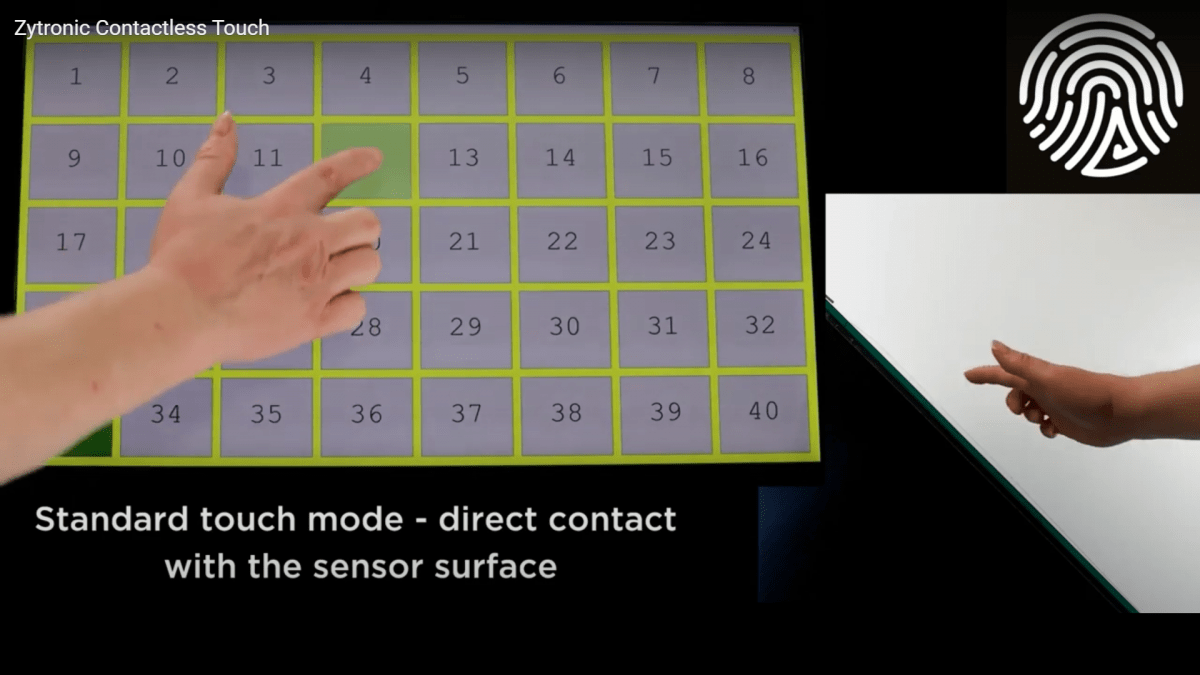 Zytronic adds a third dimension to touch with its ZyBrid® hover technology