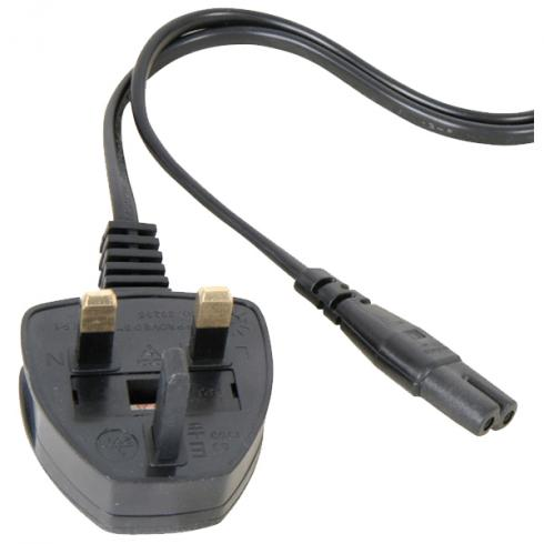 13021108 uk 3 pin figure 8 power cable 0